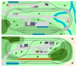 2 ho scale oo gauge track plans